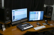 My editing and Mixing Desk
