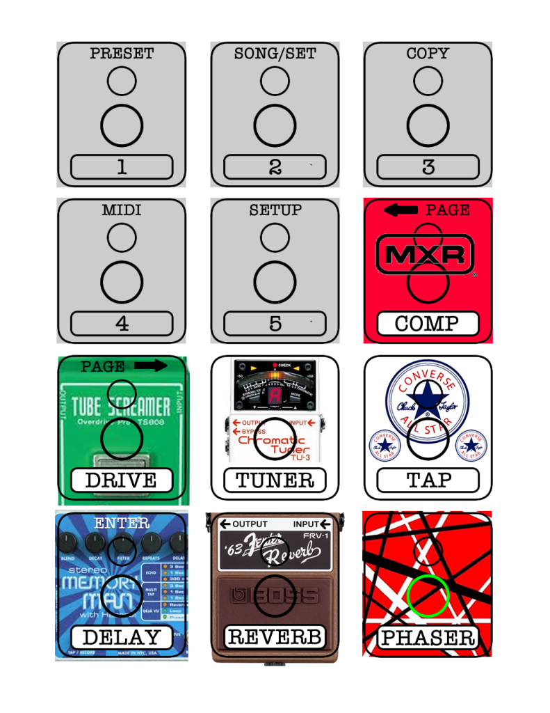 AxeFX MFC-101 Labels (Large Page 1)