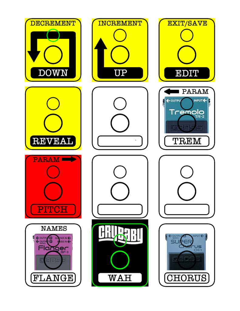 AxeFX MFC-101 Labels (Large Page 2)